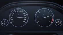 3d Render Car Speedometer Gain...