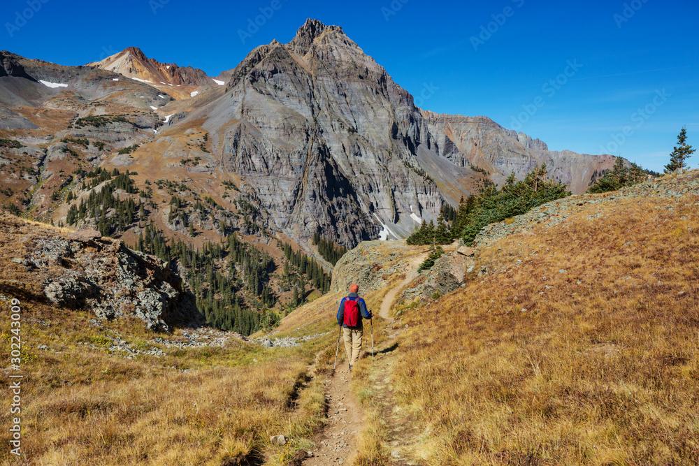 Fototapeta Hike in mountains