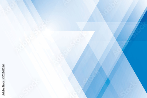 Obraz Abstract geometric blue and white color background. Vector, illustration. - fototapety do salonu