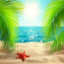 Beautiful Tropical Beach Backg...