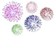 Fireworks Isolated On White Ba...