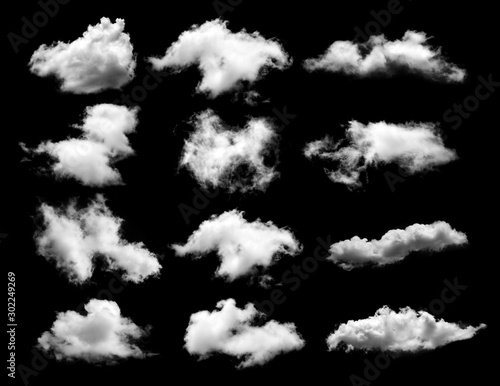 Fotomural  Clouds on black background. sky background
