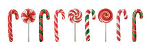 Christmas Candy Canes And Loll...