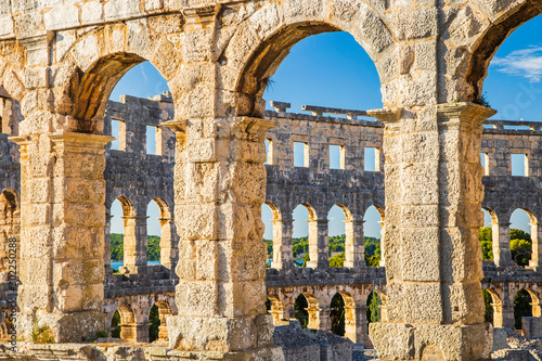 Canvastavla Ancient heritage in Pula, Istria, Croatia