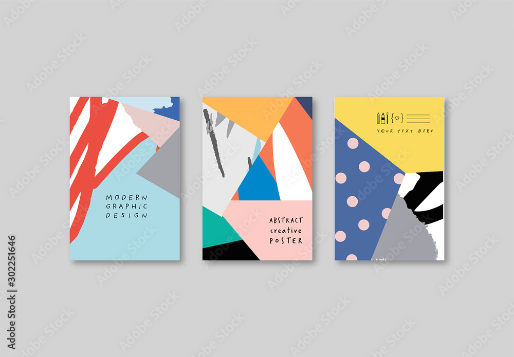 Fototapeta Card Layouts with Abstract Background