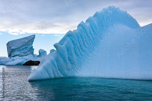 Autocollant pour porte Antarctique Icebergs - Melchior Islands - Antarctica