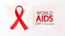 World AIDS Day 1 December. Vec...