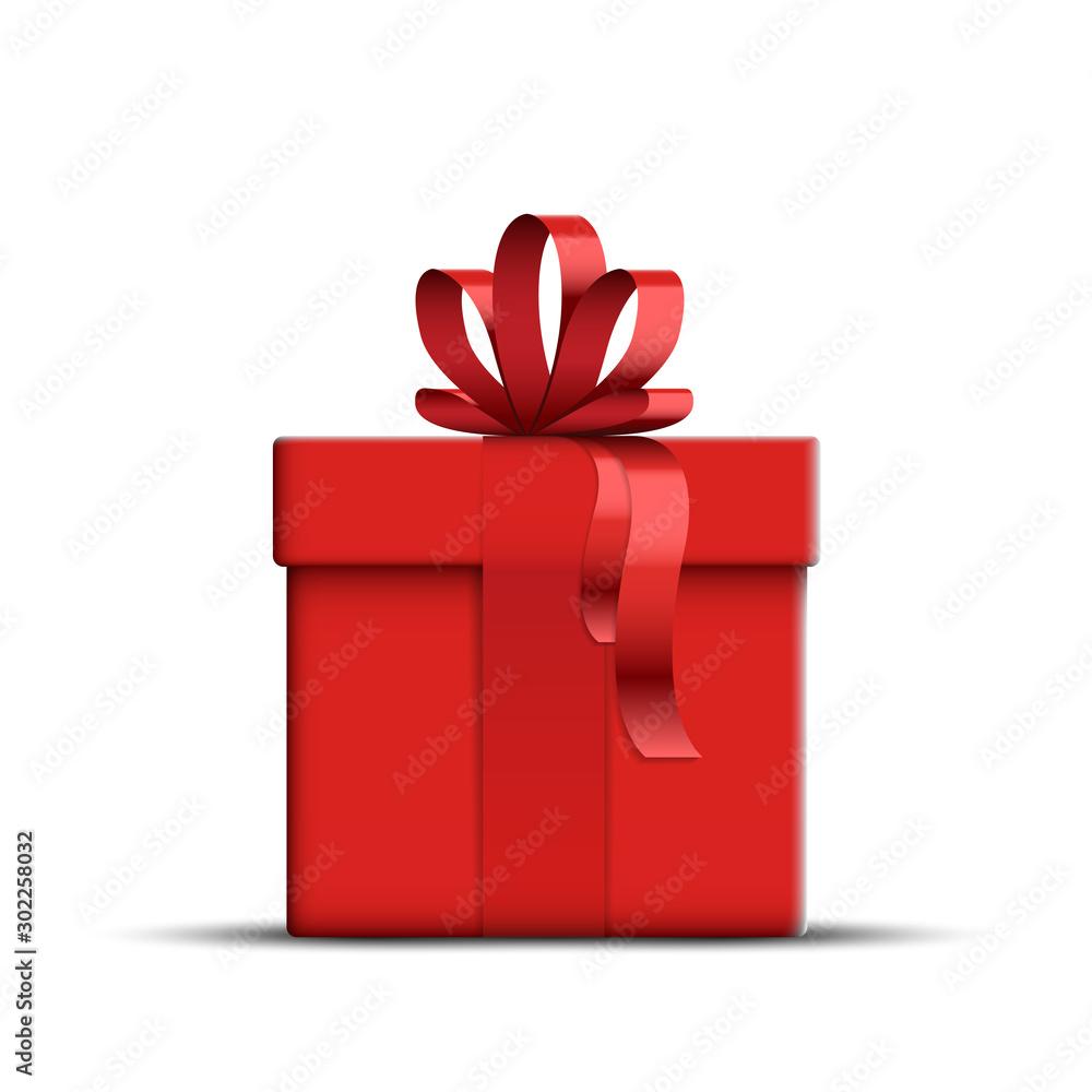 Fototapeta Vector Realistic Red Gift Box