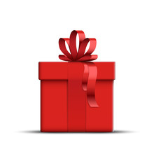 Vector Realistic Red Gift Box