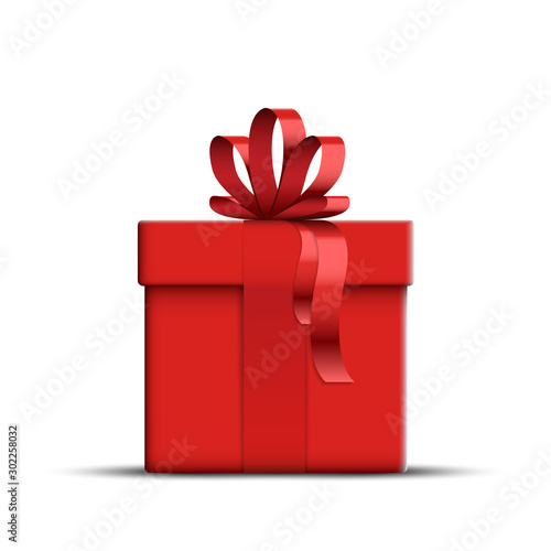 Fotomural  Vector Realistic Red Gift Box