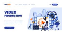 Video Production Vector Landin...