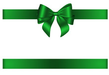 Green Bow And Ribbon For Chris...