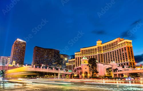Fond de hotte en verre imprimé Las Vegas Intersection of the Las Vegas Strip and Flamingo Road