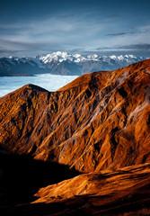 Panel Szklany Góry Fantastic view of mountain Ushba. Location Upper Svaneti, Georgia, Europe. High Caucasus ridge.