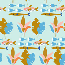 Colorful Fish And Underwater P...