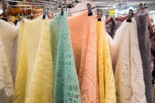Multicolored Down Shawls. Sale...