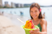 Shave Ice Hawaii Waikiki Beach...