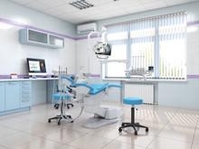 3D Rendering Modern Dentist's Office