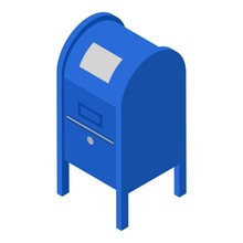 Metal Street Mailbox Icon. Iso...