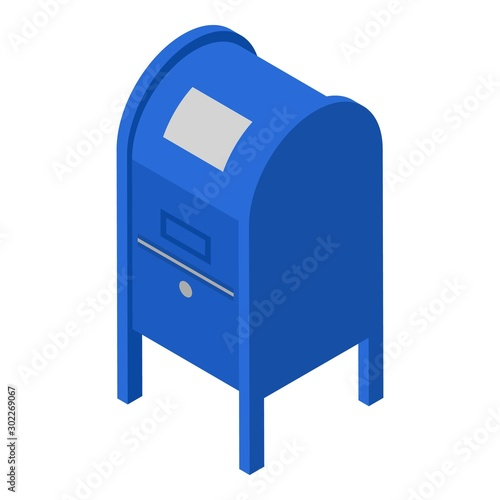 Fotografie, Obraz Metal street mailbox icon