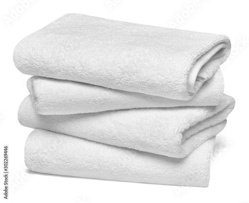 towel cotton bathroom white spa cloth textile Fototapeta