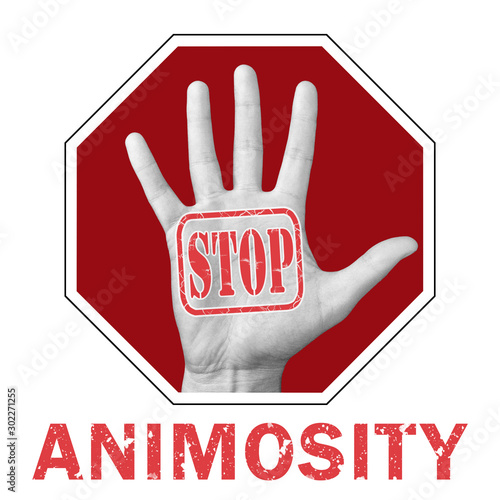 Stop animosity conceptual illustration Canvas Print