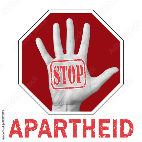 Foto Stop apartheid conceptual illustration