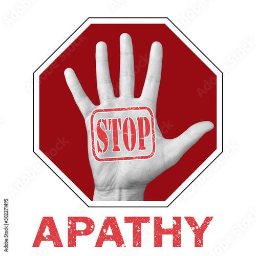Stop apathy conceptual illustration Wallpaper Mural