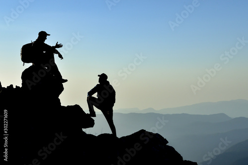 Fotografie, Obraz  mountaineering chat, adventure, respite and pleasant landscape