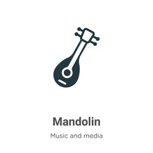 Mandolin Vector Icon On White ...