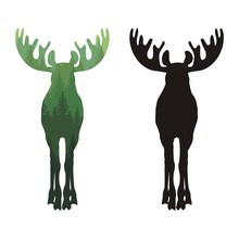 Silhouette Of A Moose With Horns