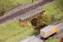 Small Train Bridges With Rails.