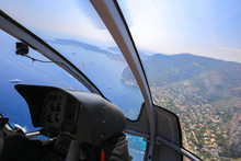 Helicopter Ride Over The Sea
