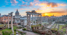 View Of Forum During Sunrise