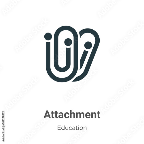 Attachment vector icon on white background Wallpaper Mural