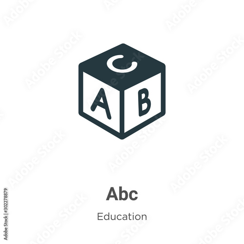 Abc vector icon on white background Wallpaper Mural