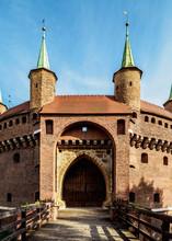 Krakow Barbican, Cracow, Lesser Poland Voivodeship, Poland