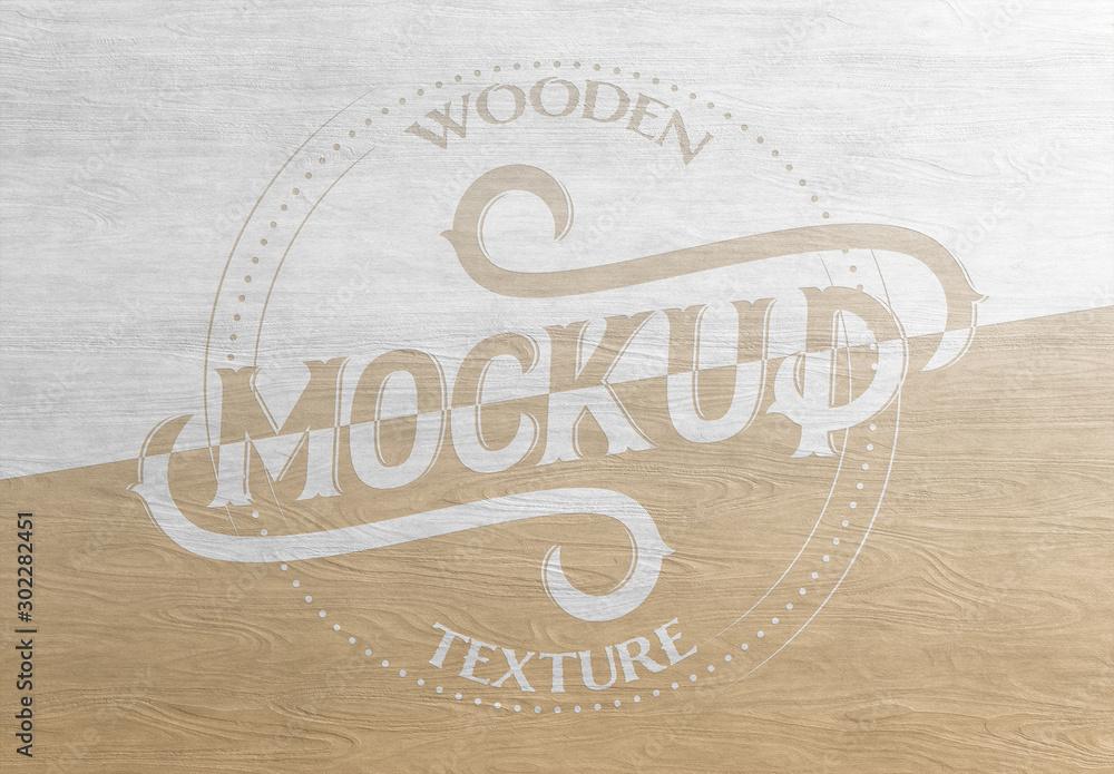 Fototapeta Wood Texture Mockup