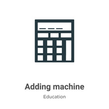 Adding Machine Vector Icon On ...