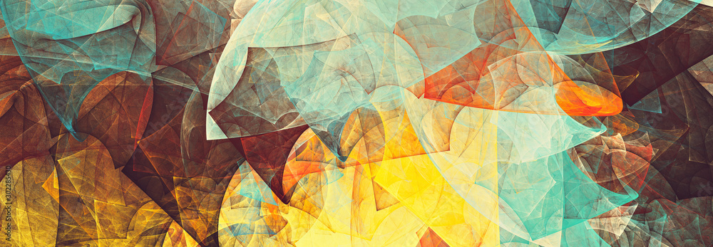 Fototapeta Bright future modern background. Abstract painting color texture. Modern futuristic pattern. Fractal artwork for creative graphic design