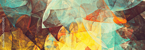 Bright future modern background. Abstract painting color texture. Modern futuristic pattern. Fractal artwork for creative graphic design - fototapety na wymiar