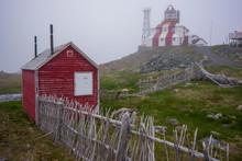 Bonavista Lighthouse In Fog