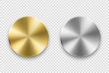 Vector Realistic Metallic Knob...