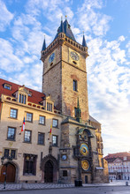 City Hall Tower With Astronomical Clock, Prague, Czech Republic