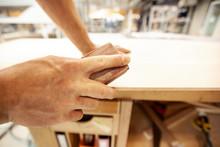 Marine Carpenter Hand Sanding ...