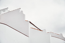 White Walls Of Modern Building
