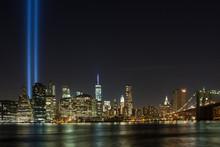 Manhattan Skyline And The Free...