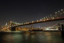 Manhattan Skyline With Brookly...