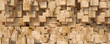 canvas print picture - Wood block texture