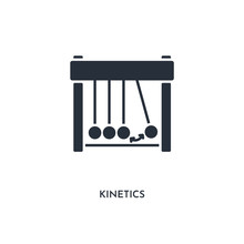 Kinetics Icon. Simple Element Illustration. Isolated Trendy Filled Kinetics Icon On White Background. Can Be Used For Web, Mobile, Ui.